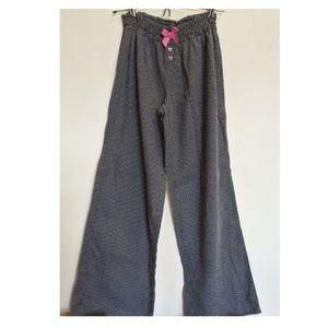 Betsey Johnson pajama bottoms lounge pants